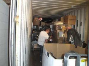 Volunteers Loading Container