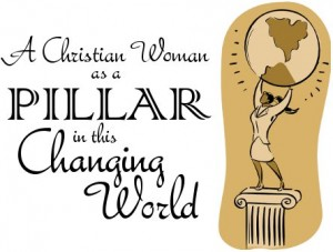 A Christian Woman as a Pillar in this Changing World (logo)