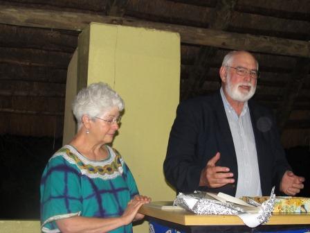 Larry & Susan speak at banquet